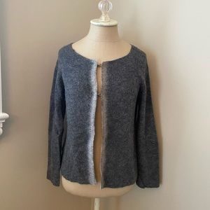 Charcoal gray cashmere cardigan